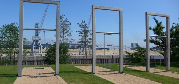Schaukeln Spielplatz Baakenhafen