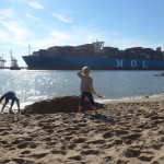 Elbstrand: Beachfeeling vor der Tür