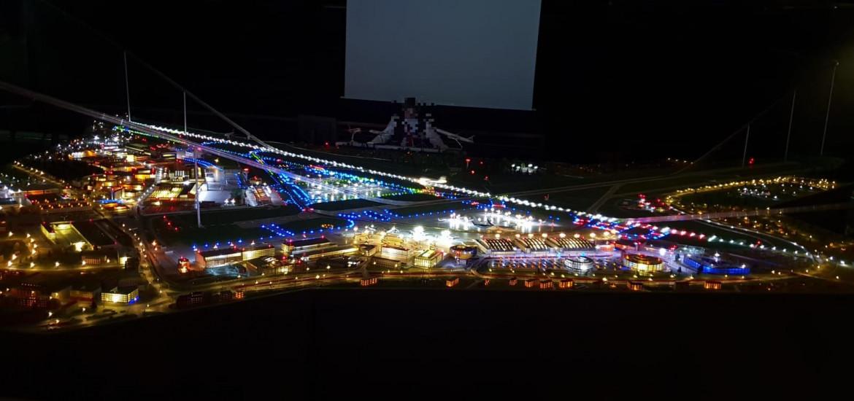 Nachtbeleuchtung Modellschau Hamburg