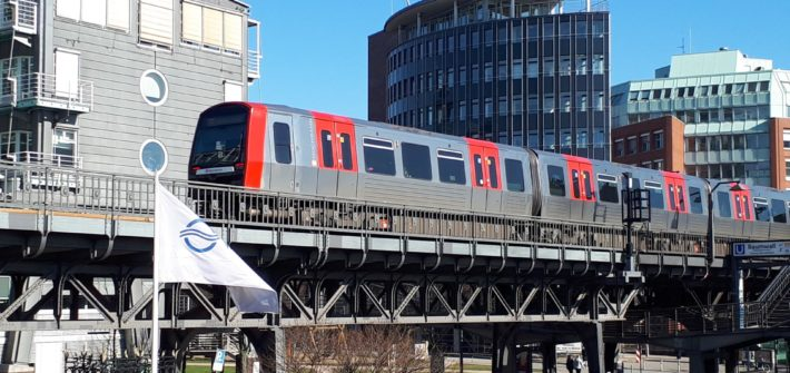 Hamburg U Bahntrasse Landungsbrücken