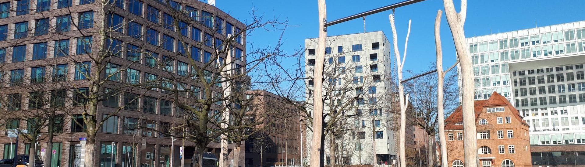Lohsepark HafenCity Hamburg Schaukeln