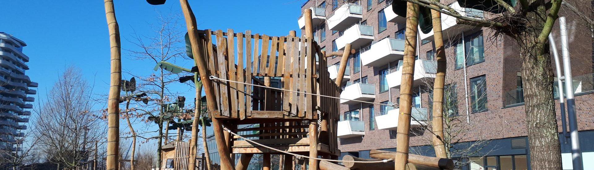 Spielplatz Grasbrookpark Hafencity Klettergerüst