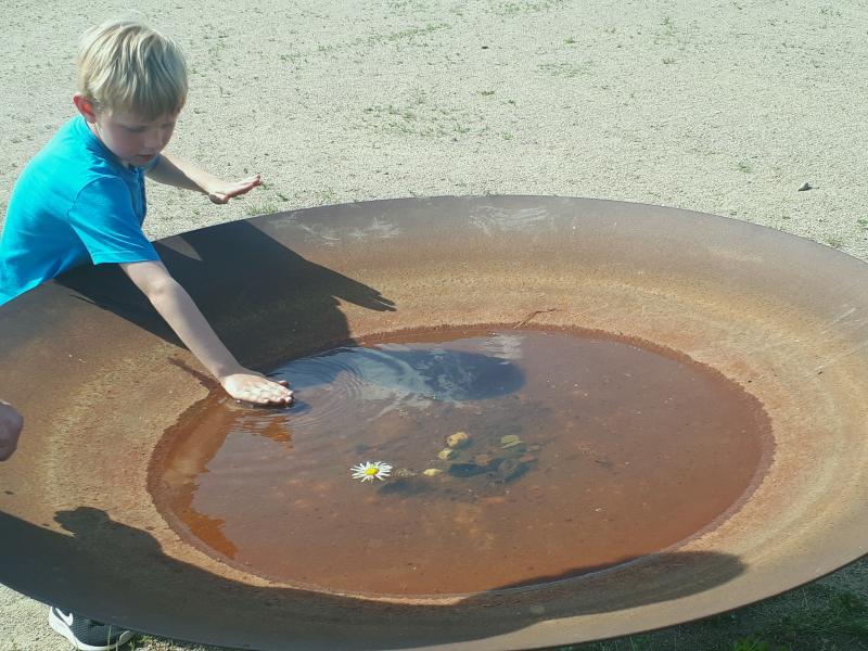 Wasserkunst Elbinsel Klangschale