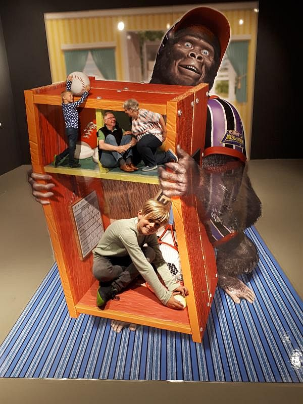 3D TrickArt Hamburg Familienbild