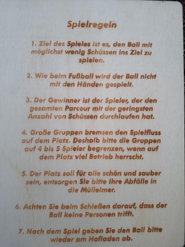 Spielregeln Fussballgolf